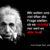 Albert Einstein 50x50 - Ein Appell zu mehr Gelassenheit?