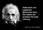 Albert Einstein Sprüche 150x108 - Halte dich von negativen Menschen fern ...