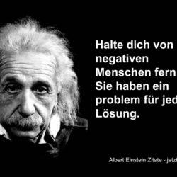 Albert Einstein Sprüche 250x250 - Halte dich von negativen Menschen fern.