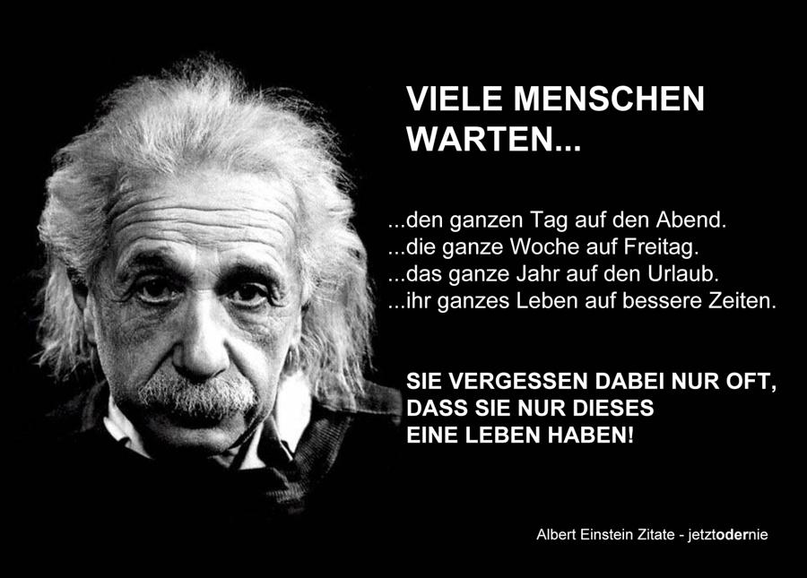 Albert Einstein Zitate online - Viele Menschen versäumen das kleine Glück ...