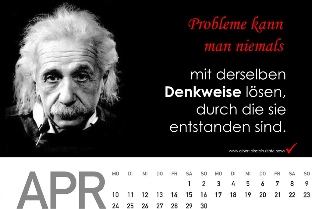 Kalender 2018 Mit Zitate Von Albert Einstein Zitate News