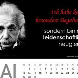 geschenkideen zum 60 geburtstag Kalender Querformat 250x250 - Albert Einstein Kalender