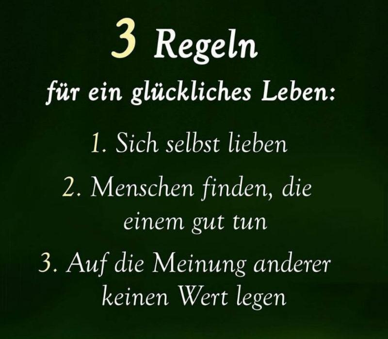Drei regeln zum Glück